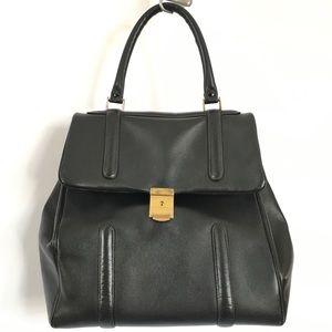 Vintage Black 💯% leather large doctor's satchel
